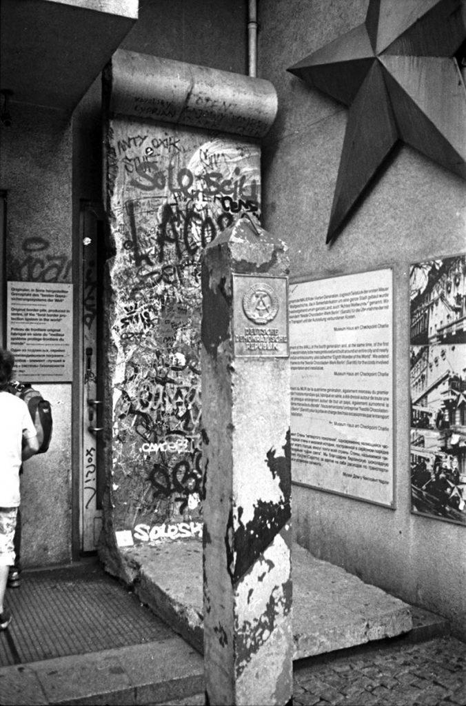 Entrée du musée du mur de Berlin.