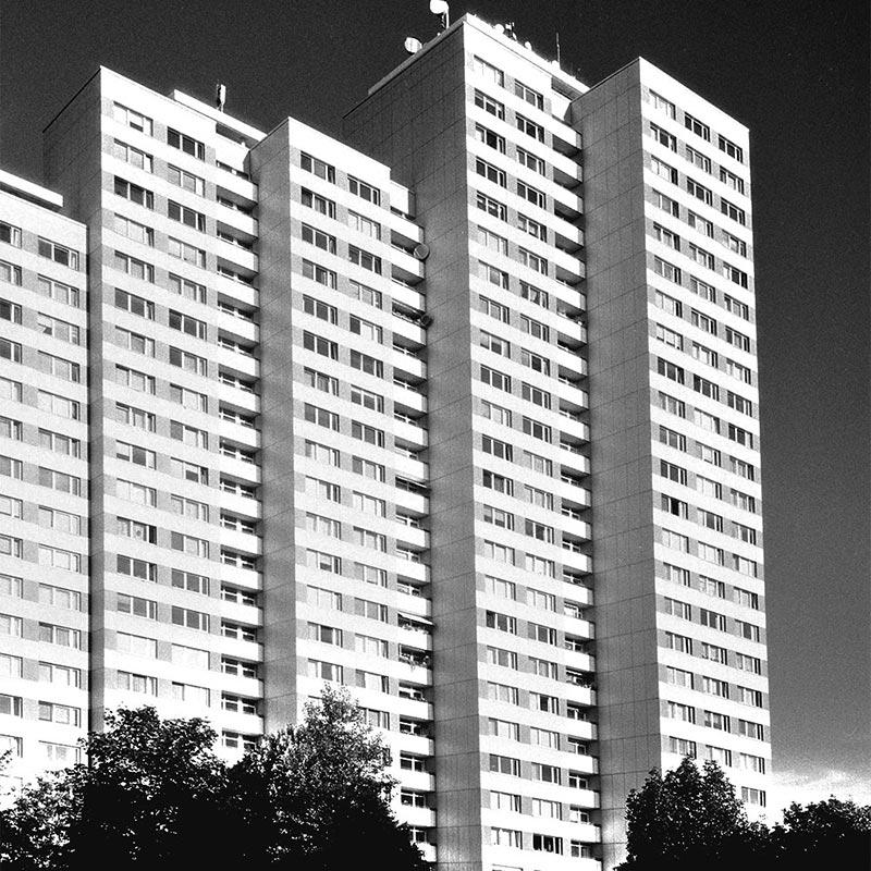 Quelques immeubles en périphérie de la Karl Marx Allee