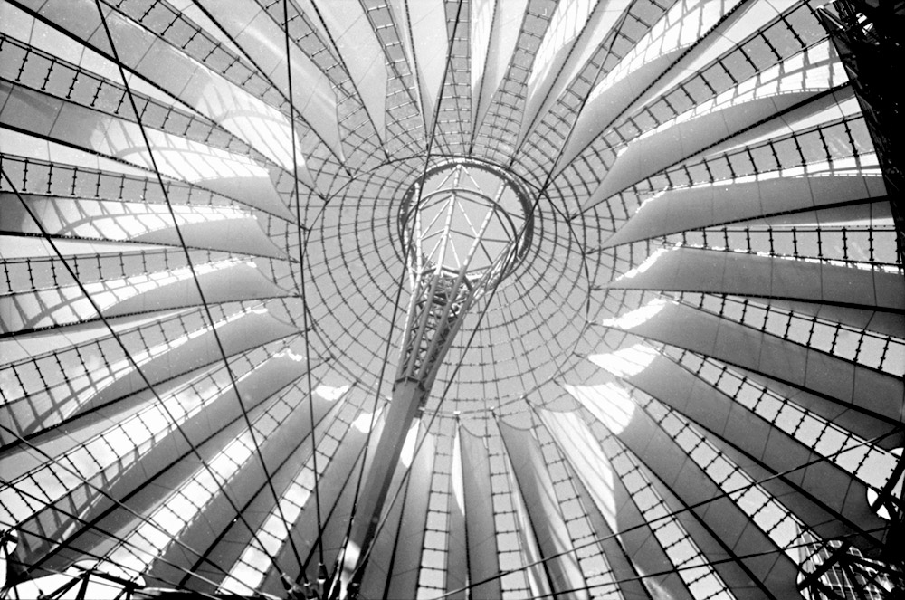 Sony center, coupole.